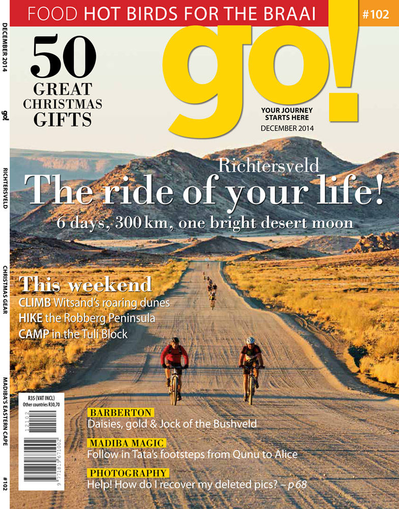 My work was featured on the Dec 2014 cover of Go! Magazine, together with accompanying photographs inside.